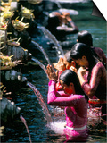 Young Women at Tirta Empul Temple, Ubud Region, Island of Bali, Indonesia, Southeast Asia Prints by Bruno Morandi