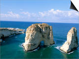 Rock Arches, Beirut, Lebanon, Mediterranean Sea, Middle East Posters by Alison Wright