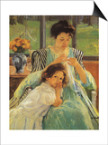 Young Mother Sewing, 1900 Prints by Mary Cassatt