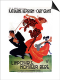 Bringing Up Baby, French Movie Poster, 1938 Poster
