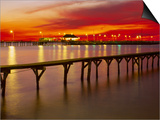 Sunset Over Mobile Bay, Fairhope, Al Print by Jeff Greenberg
