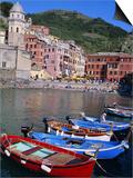 Vernazza, Cinque Terre, Unesco World Heritage Site, Italian Riviera, Liguria, Italy Prints by Bruno Morandi