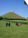 Glastonbury Tor, Somerset, England, United Kingdom Prints by Philip Craven