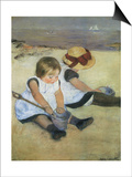Children on the Beach, 1884 Prints by Mary Cassatt