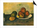 Study of Apples, Lemon, 1890 Poster by Paul Cézanne