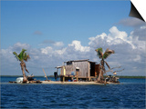 One Man Island off Placencia, Belize Prints by Yvette Cardozo