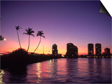 Skyline and Sunset, West Palm Beach, FL Kunstdrucke von Robin Hill