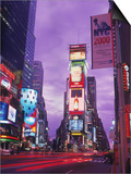 Millennium Sign and Times Sq at Night, NYC Kunst von Rudi Von Briel