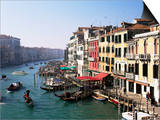 View Along the Grand Canal from Rialto Bridge, Venice, Unesco World Heritage Site, Veneto, Italy Prints by Lee Frost