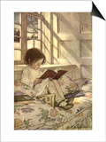 Chlld Reading on Couch, 1905 Poster by Jessie Willcox-Smith