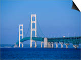 Mackinac Bridge, Mackinaw City, Michigan, USA Prints by Michael Snell