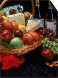Assortment of Fruits and Wine Prints by Gale Beery