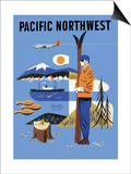 Pacific Northwest, c.1956 Poster