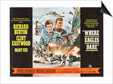 Where Eagles Dare, UK Movie Poster, 1968 Prints