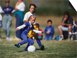 8 Year Old Girls in Action Durring Soccer Game, Lakewood, Colorado, USA Prints