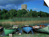 Boats, Lough Corrib, County Mayo, Ireland Posters by Gail Dohrmann