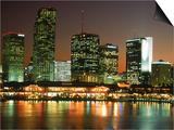 City Skyline at Night, Miami, FL Prints by Jeff Greenberg