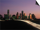Night Skyline, Houston, Texas Posters by Kevin Leigh