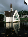 Church and Koi Pond, Wailea Beach, Maui, Hawaii, Hawaiian Islands, USA Posters by Alison Wright