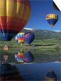 Hot Air Balloons, Snowmass, CO Posters by Fred Luhman