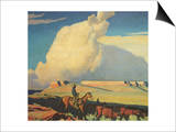 Open Range, 1942 Prints by Maynard Dixon