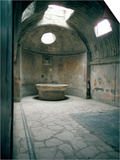 Baths, Pompeii, Campania, Italy Prints by Christina Gascoigne