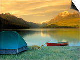 Camping, Bowman Lake, Glacier National Park, MT Posters by Amy And Chuck Wiley/wales