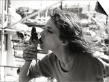 Jane Birkin by the Saint-Tropez Harbor, June 1977 Poster by Luc Fournol