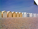 Beach Huts, Cayeux Sur Mer, Picardy, France Prints by David Hughes
