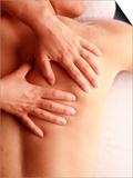 Man Receiving a Back Massage Prints by Matthew Borkoski