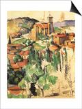 Village of Gardanne, 1885 Posters by Paul Cézanne