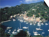 Portofino, Italy Poster by Lonnie Duka