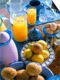 Food and Drink on Board a Catamaran, Praslin, Seychelles, Indian Ocean, Africa Prints by Bruno Barbier