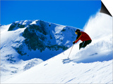 Man Skiing at Breckenridge Resort, CO Prints by Bob Winsett
