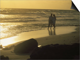 Aruba, Couple Walking on Beach Prints by Jennifer Broadus