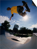 Skateboarder in Action on the Vert Prints