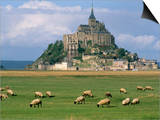 Mont Saint Michel, Unesco World Heritage Site, Manche, Normandy, France Prints by Bruno Morandi