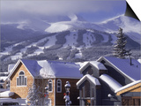 Town with Ski Area in Background, Breckenridge, CO Poster by Bob Winsett