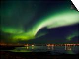Aurora Borealis in the Sky, Alftanes, Reykjavik, Iceland Prints