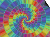 Abstract Multi-Coloured Spiral Design Print by Albert Klein