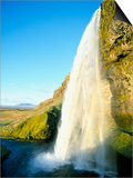 Seljalandsfoss Waterfall, Southern Area, Iceland, Polar Regions Poster by Simon Harris
