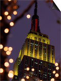 Empire State Building at Night, NYC, NY Posters by James Lemass