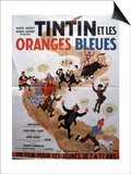 Movie Poster: Tintin et Les Oranges Bleues, 1964 Posters by Marcel Dole