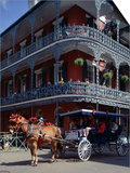 Horse and Carriage in the French Quarter, New Orleans, Louisiana, USA Posters by Adina Tovy