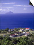 Brades Town View from Baker Hill, Montserrat Posters by Walter Bibikow