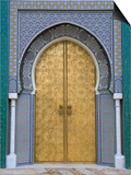 Ornate Doorway, the Royal Palace, Fez, Morocco, North Africa, Africa Print by  R H Productions
