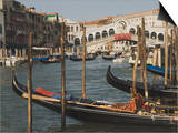 Gondolas, Grand Canal and Rialto Bridge, Venice, Unesco World Heritage Site, Veneto, Italy Prints by James Emmerson
