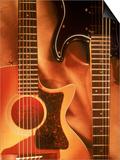 Guitars Print by Michelle Joyce