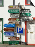 Profusion of Road Signs, Ballyvaughan, County Clare, Munster, Republic of Ireland Prints by Gary Cook