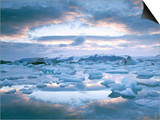Jokuslarlon Glacial Lagoon, Vatnajokull Ice-Cap, Iceland, Polar Regions Prints by Simon Harris